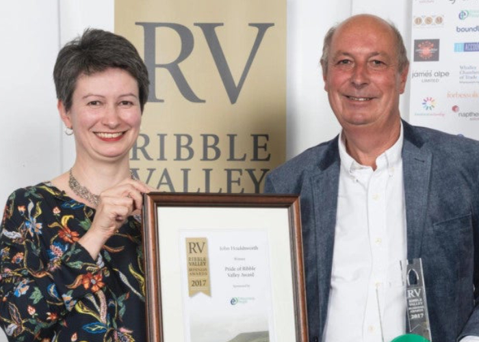 John Houldsworth has been awarded the Pride of Ribble Valley